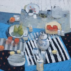 Place Settings 48x48 oil on wood : Still Lifes, Paul Balmer
