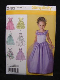 NEW Simplicity 2463 Flower Girl Dress Pattern Pageant Princess Formal Sz 5 6 7 8