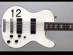 MUSICVOX SPACE CADET 12 String Bass Rare White With 12  Graphic