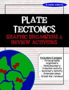 Plate Tectonics - Graphic Organizers, Review Activity & More! ($)