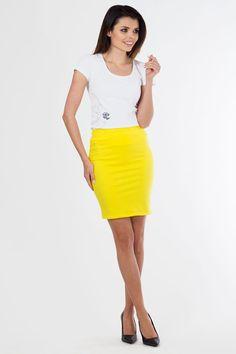 201ab40e206e Εφαρμοστή μίνι φούστα.95% Cotton 5% Lycra Waist Skirt