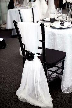 Black & white wedding decoration.