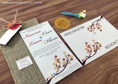 Identidade casamento eco - Galeria de Convites