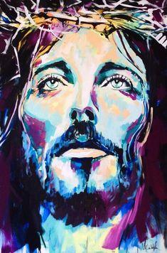 modern paintings jesus   Jesus Christ Abstract Art jesus christ canvas - vango paintings ...