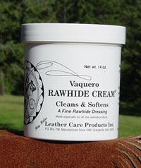 Vaquero Rawhide Cream has a light mousse-like texture formulated using only natural ingredients to give rawhide products the natural nourishment they need to maintain structure and strength without effecting colour while adding a softness to surface which your horse and your hands will thank you for. While originally developed for the rawhide, Rawhide Cream is also an excellent product to clean and condition light coloured leather, English and Paso Tack