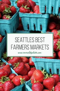 Seattles best farmers markets, as told by a local. Discover which are seasonal vs. year round markets, can't miss vendors, and what time to visit each market in Seattle. Get ready to visit Washington farms and buy the best Seattle souvenirs from makers! Seattle Neighborhoods, South Lake Union, Cruise Excursions, Pike Place Market, Travel Usa, Travel Tips, Foodie Travel, Washington State, Pacific Northwest