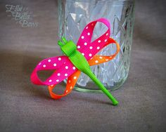 SALE PRICE Dragonfly Ribbon Sculpture Hair Clip by EllaBellaBowsWI