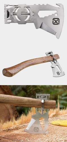 Cool multi-tool that turns into an axe. Handy when you need to go medieval on someone