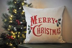 Hey, I found this really awesome Etsy listing at https://www.etsy.com/listing/205188286/christmas-pillow-cover-merry-christmas