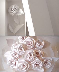 Lovely paper roses made by Zoe Bradley