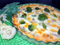 La cajita de nieveselena: Tarta de boletus y brocoli, con bacon y queso chedar y masa casera