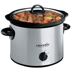 Crock-Pot SCR300SS 3-Quart Round Manual Slow Cooker Stainless Steel