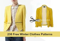 238 Free Winter Clothes Patterns - Free coat patterns, ponchos, hats, sweaters, leggings, shrugs & vests