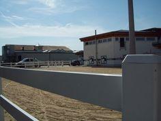 """Projekt Krämer Mega Store Florstadt 07-07-2014  Reitplatzzaun """"Ranch Fence"""" 2 Riegel mit Doppeltor fertiggestellt."""
