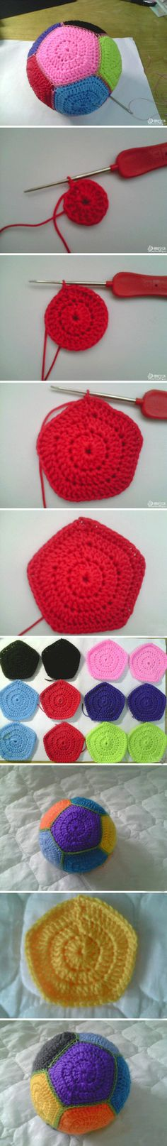 Crochet Granny Ball - Tutorial ❥ 4U // hf
