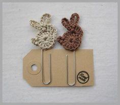 crochet bunny paper clips