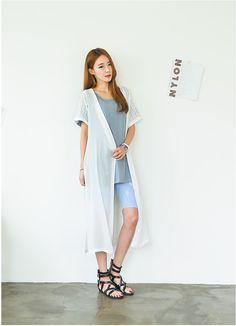 Blain Loose Long Cardigan   Korean Fashion