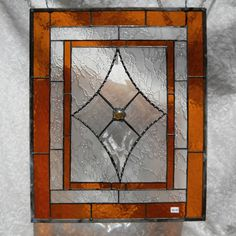 RESERVED FOR CARIN -- Traditional Stained Glass Window Panel with Beveled…