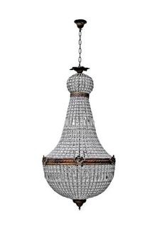 Shop Empire Style Chandelier Large at Interiors Online. Exclusive High End Furniture. OFF First Order & Australia Wide Delivery Buy Chandelier, Antique Chandelier, Interior Lighting, Home Lighting, Lighting Ideas, Ceiling Pendant, Ceiling Lights, French Empire Chandelier, Shimmer Lights