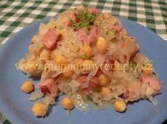 Cizrna po valašsku Potato Salad, Smoothie, Salads, Food And Drink, Potatoes, Vegan, Chicken, Ethnic Recipes, Recipes