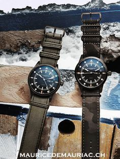 Swiss made watches from a collection at Maurice de Mauriac. Watches for men. Swiss Luxury Watches, Swiss Made Watches, Modern Watches, Luxury Watches For Men, Cool Watches, Dream Watches, Wrist Watches, Men's Watches, Expensive Watch Brands