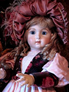"""Long Faced Jumeau Reproduction Doll by DecojumeauAntiques on Etsy, $2995.00...30"""""""