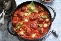 Het geheim van deze pasta? De pasta kook je met de saus in één flinke pan - Recept - Allerhande
