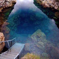 Clearest diving spot in National Park Thingvellir