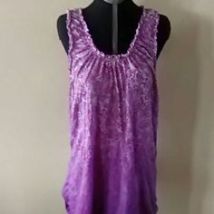 Sleeveless top Purple ombre. Elle Tops