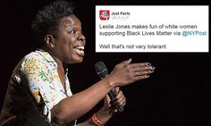 Leslie Jones under fire for joke about white people supporting BLM