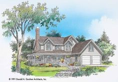 Country House Plan with 1936 Square Feet and 3 Bedrooms from Dream Home Source | House Plan Code DHSW01451