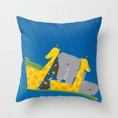 Noahs Ark Throw Pillow- Perfect for the nursery!