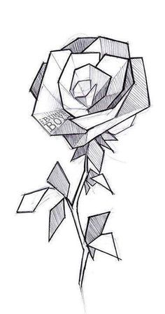 50 Ideas for geometric art projects ideas Cool Art Drawings, Pencil Art Drawings, Art Drawings Sketches, Easy Drawings, Drawing Art, Tattoo Sketches, Tattoo Outline Drawing, Tumblr Sketches, Interesting Drawings
