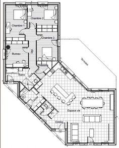 conception de notre maison maison bbc plain pied 4 chambres grand espace de vie chauffage au sol pac et surtout ouverte sur lextrieur - Plan Maison Plain Pied 150m2 Gratuit