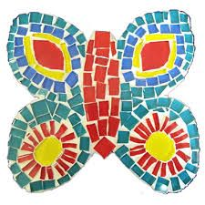 We searched Mosaic craft for kids on google to find images to inspire our mosaic activity.  We did it using torn up squares of coloured paper.