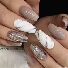 These Marble Nails Are Everything Girly Style Pinterest Nails