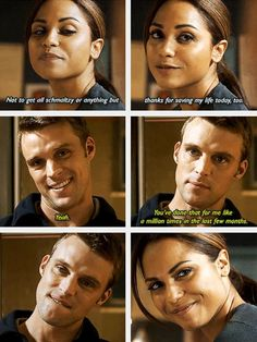 """Dawson """"Not to get all schmaltzy or anything but thanks for saving my life today, too."""" Casey """"Yeah. You've done that for me like a million times in the last few months."""" - 2x08"""