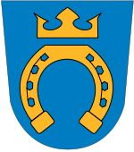 Municipality of Espoo (Esbo), Finland, Area Km²) Cities In Finland, Medieval, City Flags, Flag Icon, Good Neighbor, Urban City, Crests, Coat Of Arms, Historia