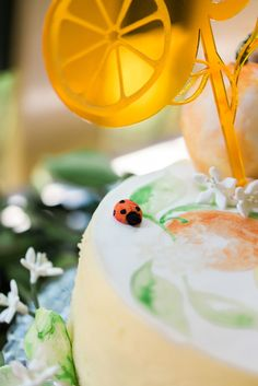 "Handpainted watercolour cake design using sweetsticks edible art paints for Aiden's ""In the Orange Garden"" Party : Design and Styling by ELK Prints. Orange Birthday Parties, Birthday Party Decorations, Garden Birthday, Baby Birthday, Birthday Ideas, Chicken Risotto, Watercolor Cake, Mylar Balloons, Spice Cake"