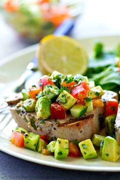 Tender tuna steaks a