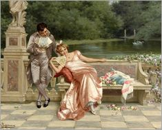 Vittorio Reggianini (1858-1938) - Flirtation