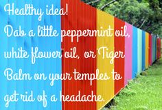 Cure a headache with one of these oils.