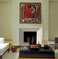 Contemporary Fireplace Mantels and Surrounds | Newport Fireplace Mantel - contemporary - fireplaces - oklahoma city ...