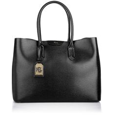 Lauren Ralph Lauren Handle Bag - Tate City Tote Black/Black - in black... ($205) ❤ liked on Polyvore featuring bags, handbags, tote bags, black, handbags totes, lauren ralph lauren handbags, city tote, embossed handbags and handbag purse