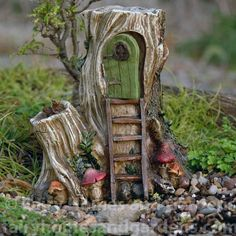 Fairy Homes and Gardens - Hollow Wood Hut, $33.99 (http://www.fairyhomesandgardens.com/hollow-wood-hut/)