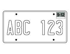 photo regarding Printable License Plates Templates titled Gail Farmer (gfarmer544) upon Pinterest