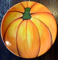 Painted Pumpkin Plate   Paint Your Own Pottery   Paint Your Pot   Cary, North Carolina