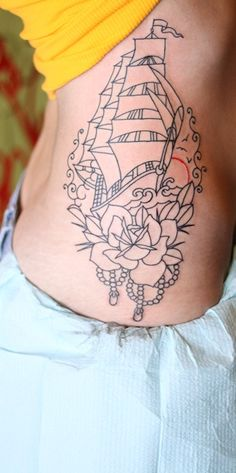 I didn't like the idea of a ship tattoo until I saw this one.