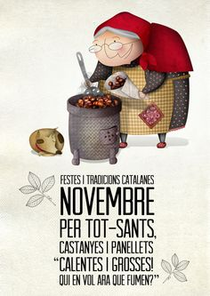 "Festes i tradicions: la ""Castanyada"" by magimo , via Behance #illustration"