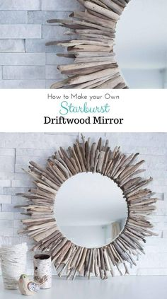 Sunburst Mirror with Reclaimed Driftwood